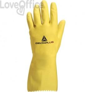 Guanto casalinghi Delta Plus Picaflor lattice giallo 30 cm taglia 8/9 - VE240JA08