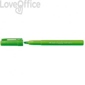 Evidenziatori TRATTO Fluo punta a scalpello 1-5 mm verde - 733002 (conf. 12 pezzi)