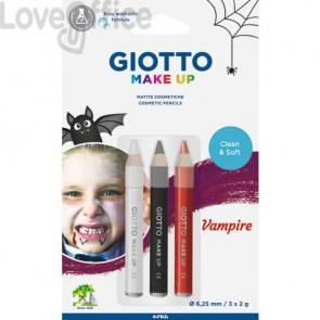 Tris tematico di matite cosmetiche GIOTTO Bianco, Nero, Rosso - Vampire 473500