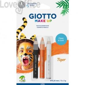 Tris tematico di matite cosmetiche GIOTTO bianco, giallo, nero - Tiger 473300