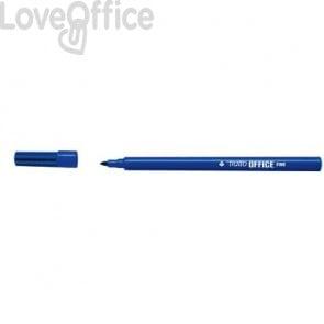 Pennarelli punta in fibra TRATTO Office punta conica 0,7 mm blu (conf. 12 pezzi)