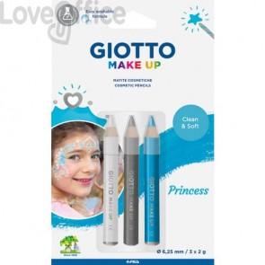 Tris tematico di matite cosmetiche GIOTTO bianco, argento, azzurro - Princess 473400