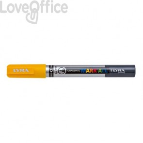 Pennarello a tempera giallo LYRA Graduate Mark All 0,7 mm L6800007