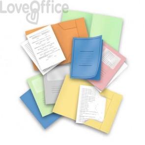 Cartelline con alette Pigna azzurro  conf. 50 pezzi - 0221801AZ