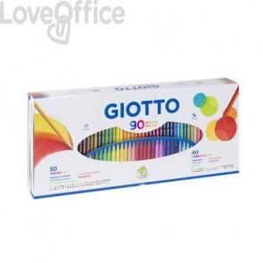Matite colorate Stilnovo + pennarelli Turbo Color GIOTTO assortiti - 25750000 (Conf. 90 pezzi)