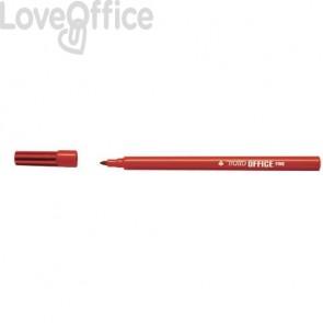 Pennarelli punta in fibra TRATTO Office punta conica 0,7 mm rosso (conf. 12 pezz)