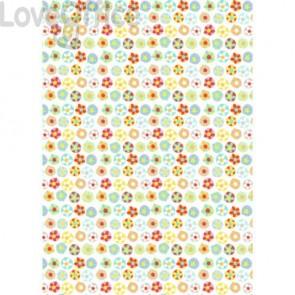 Carta da regalo Kartos Everyday Contemporary 70x100 cm mod. Fiorellini e Colori Conf. 10 fogli - 18872100B10