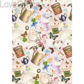 Carta da regalo Kartos Everyday 70x100 cm mod. Fantasia Femminile Conf. 10 fogli - 18828000B10