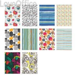 Carta da regalo Kartos Everyday Contemporary 70x100 cm mod. Flowers Conf. 10 fogli - 18873600B10