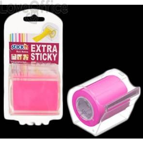 Dispenser nastro adesivo scrivibile Stick'n fucsia 50 mm x 10 m 1 rotolo incluso - 21693
