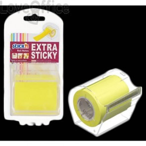 Dispenser nastro adesivo scrivibile Stick'n giallo fluo 50 mm x 10 m 1 rotolo incluso - 21692