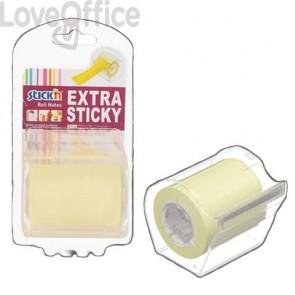 Dispenser nastro adesivo scrivibile Stick'n giallo pastello 50 mm x 10 m 1 rotolo incluso - 21690