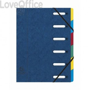 Classificatore Harmonika® Exacompta 6 divisori - 24,5x32 cm blu