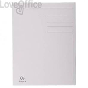 Cartelline a 3 lembi Forever® 24,5x35 cm grigio conf. 50 pezzi - 449019E