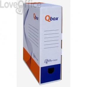 Scatola archivio QBOX bianco -25x36 cm - dorso 9 cm - 8109.1600