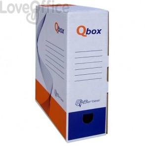 Scatola archivio QBOX bianco - 25x33 cm - dorso 10 cm - 8010.1600