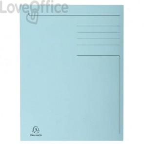 Cartelline a 3 lembi Forever® 24,5x35 cm azzurro conf. 50 pezzi - 449006E