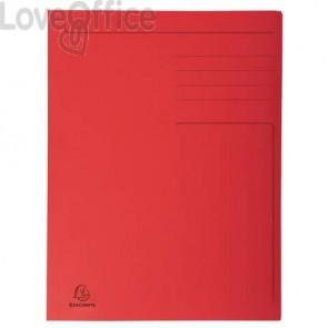 Cartelline a 3 lembi Forever® 24,5x35 cm rosso conf. 50 pezzi - 449003E