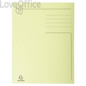 Cartelline a 3 lembi Forever® 24,5x35 cm giallo conf. 50 pezzi - 449005E