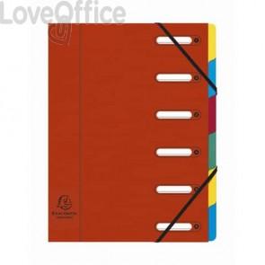 Classificatore Harmonika® 6 divisori - 24,5x32 cm rosso 55065E