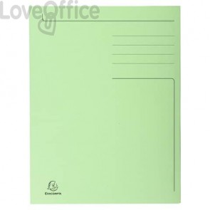 Cartelline a 3 lembi Forever® 24,5x35 cm verde conf. 50 pezzi - 449013E