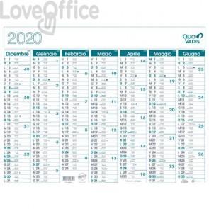 Calendario 14 mesi Quo Vadis 55x43 cm stampa bicolore da dicembre a gennaio - 238009Q