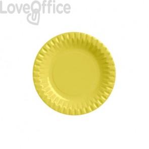 Piatti di carta - diametro 180 mm Dopla giallo 10 pezzi - 32400