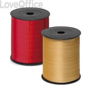 Nastro da regalo in rocchetto Brizzolari 10 mm x 250 mt rosso metallizzato conf. 4 pezzi - 3870.ROSSO