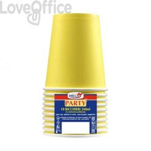 Bicchieri di carta - 240 ml Dopla giallo  10 pezzi - 22055