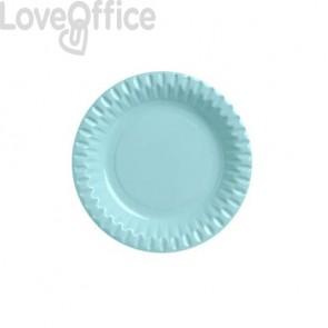 Piatti di carta - diametro 180 mm Dopla azzurro 10 pezzi - 32394