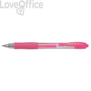 Penne gel a scatto Pilot G2 - rosa neon - 0,7 mm1379