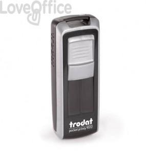 Timbri autoinchiostranti tascabili Trodat Pocket Printy 9512 47x18 mm nero/silver - 149204