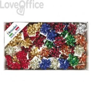 Stelle adesive per pacchi regalo Brizzolari 6,5 mm Ø 35 mm assortiti lucido  conf. 100 - 2970