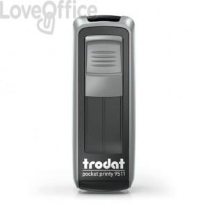 Timbri autoinchiostranti tascabili Trodat Pocket Printy 9511 38x14 mm nero/silver - 148842