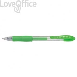 Penne gel a scatto Pilot G2 - verde neon - 0,7 mm 1384