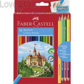 Matite colorate Faber-Castell Eco Il Castello (conf.36 + 3 Bicolor + 1 Grafite)