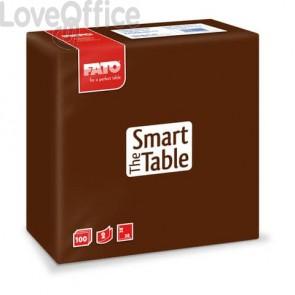 Tovaglioli Fato The Smart Table 38x38 cm cioccolato Conf. 100 pezzi - 82141400