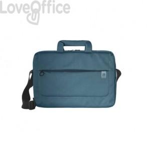 Borsa slim per laptop Tucano Loop in tessuto fino a 15'' azzurro - BSLOOP15-Z