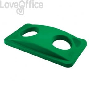 Coperchio per Slim Jim forato per le bottiglie Rubbermaid GREEN FG269288GRN