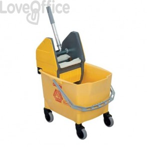 Combo Bravo (Secchio da 25 l + Strizzatore) Rubbermaid YELLOW R014152