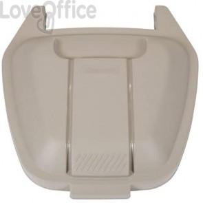 Coperchio per bidone portarifiuti Rubbermaid Mobile Bin 100 L beige R002220