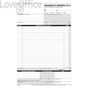 Blocco DDT autoricalcanti flex A4 - 1687CD330 (33x3 copie autoricalcanti)