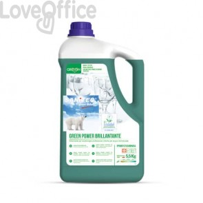 Additivo brillantante lavastoviglie Green Power Sanitec 5,5 kg 4019