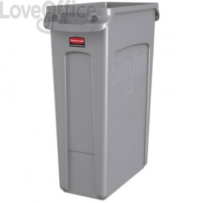 Contenitore portarifiuti Slim Jim® con canali di ventilazione Rubbermaid Grigio - FG354060GRAY