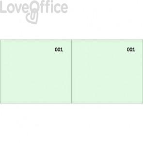 Scontrino colorato a 2 sezioni Data Ufficio blocco 100 copie prenumerate verde - DU160000090 (conf.10)