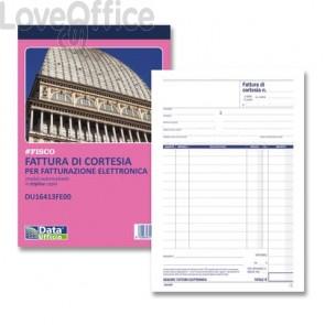 Blocco fatture di cortesia data ufficio 21,5x14,5 cm - DU16413FE00 (33x2 copie autoricalcanti)
