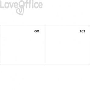 Scontrino colorato a 2 sezioni Data Ufficio blocco 100 copie prenumerate bianco - DU160000010 (conf.10)