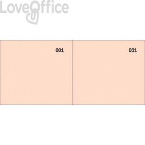 Scontrino colorato a 2 sezioni Data Ufficio blocco 100 copie prenumerate rosso - DU160000020 (conf.10)