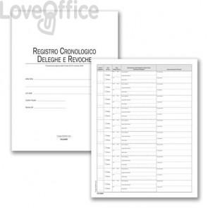 Registro cronologico deleghe/revoche data ufficio 31x24,5 cm DU351118DR0 (48 fogli)
