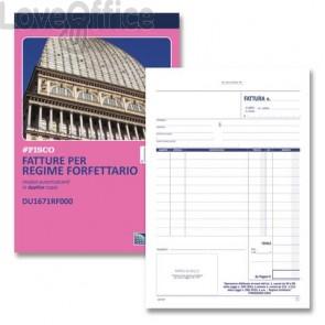 Blocco fatture per regime forfettario data ufficio - A5 - DU1671RF000 (50x2 copie autoricalcanti)